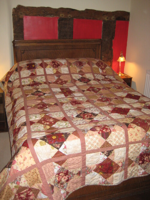 Patchwork Quilt for Red Room