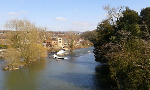 The River Teme in Ludlow